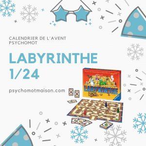 labyrinthe calendrier de l'avent 1/24 psychomot'maison
